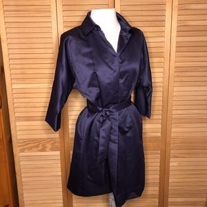 Simply Vera Wang Purple Satin Trench XS
